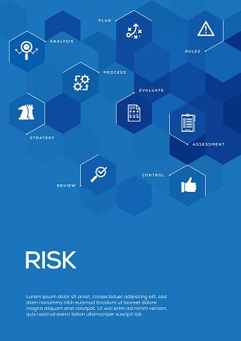 Risk Management. Brochure Template Layout, Cover Design