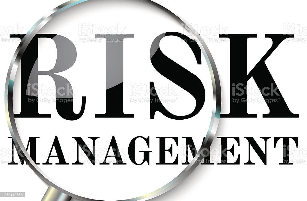 Risk management vector art illustration
