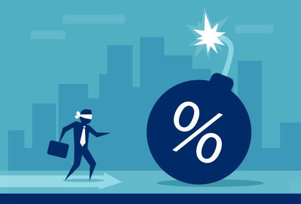 risiko für die kreditaufnahme konzept geld - hypotheken kündigung stock-grafiken, -clipart, -cartoons und -symbole