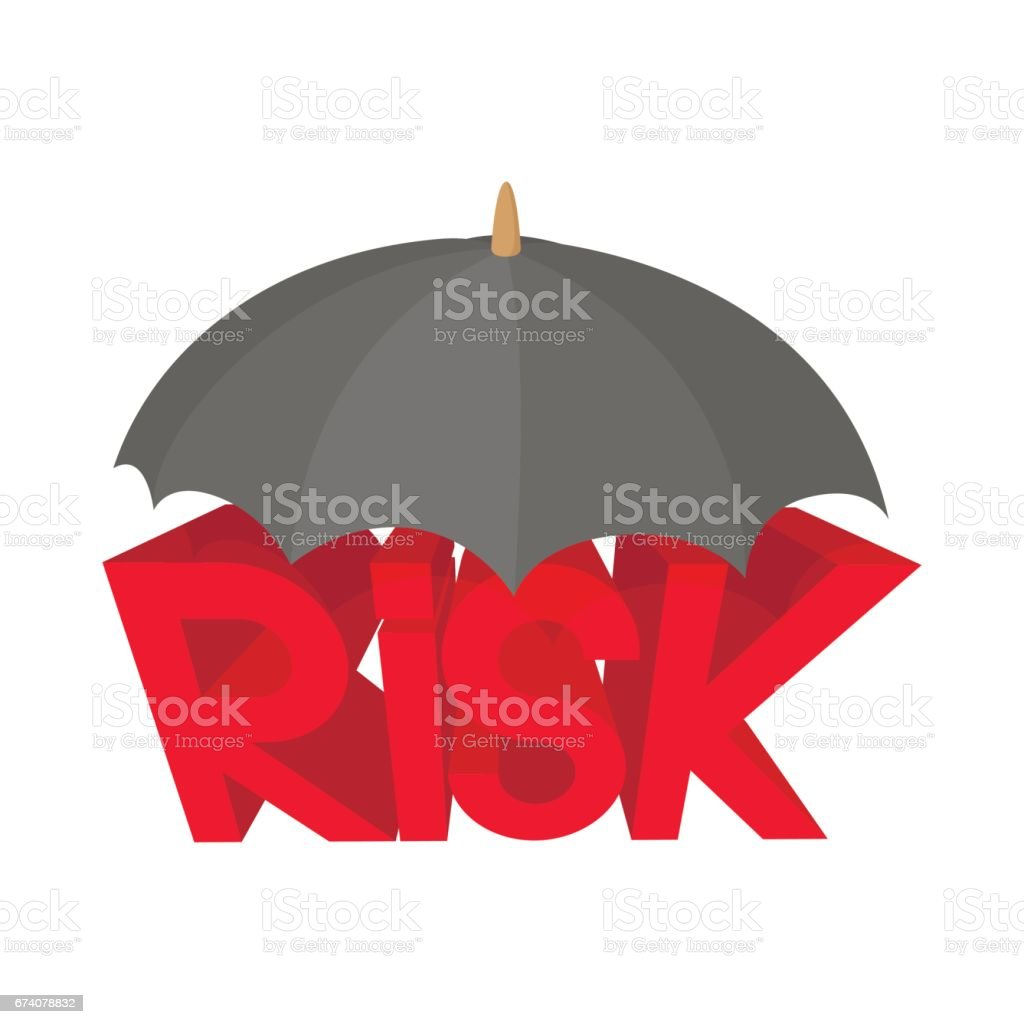 Risk under umbrella icon, cartoon style royalty-free risk under umbrella icon cartoon style stock vector art & more images of business