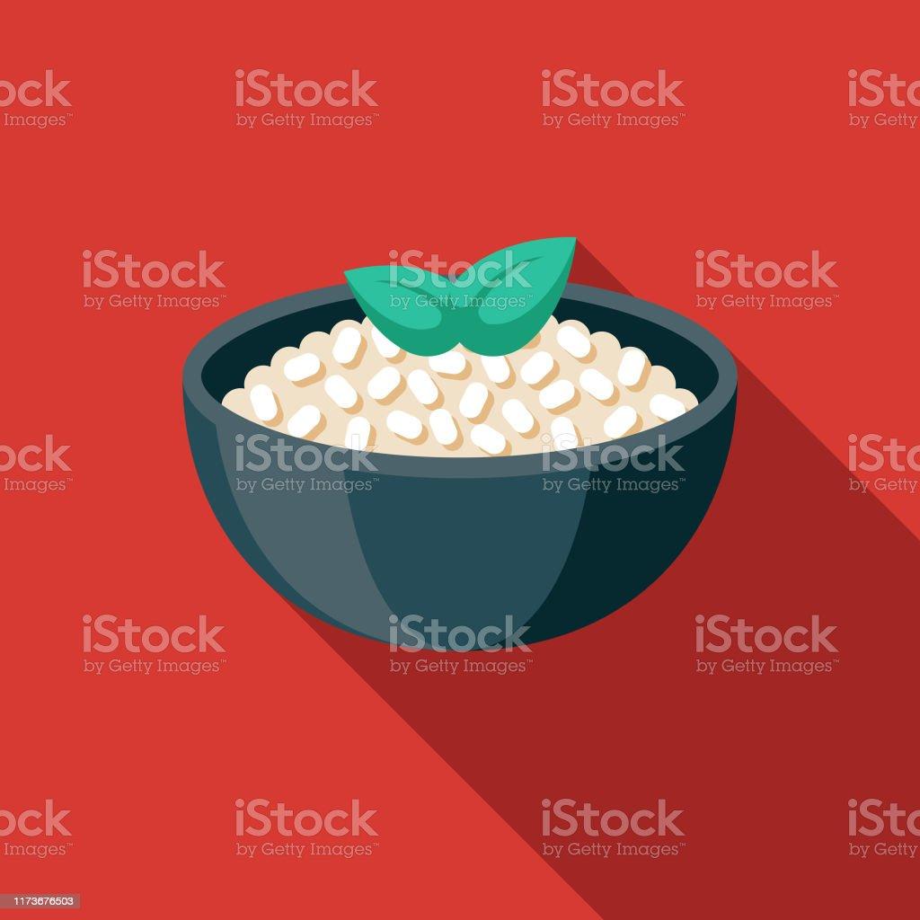 Icône de nourriture italienne de Risotto - clipart vectoriel de Aliment libre de droits