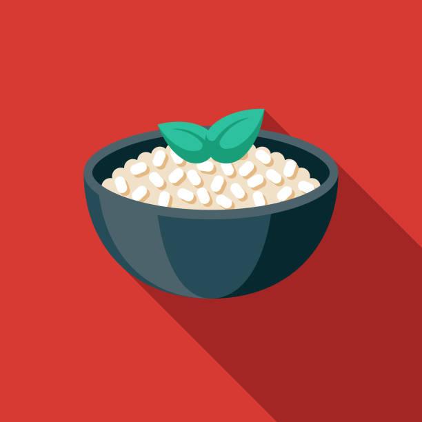 illustrations, cliparts, dessins animés et icônes de icône de nourriture italienne de risotto - risotto