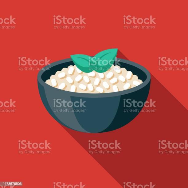 Icône De Nourriture Italienne De Risotto Vecteurs libres de droits et plus d'images vectorielles de Aliment