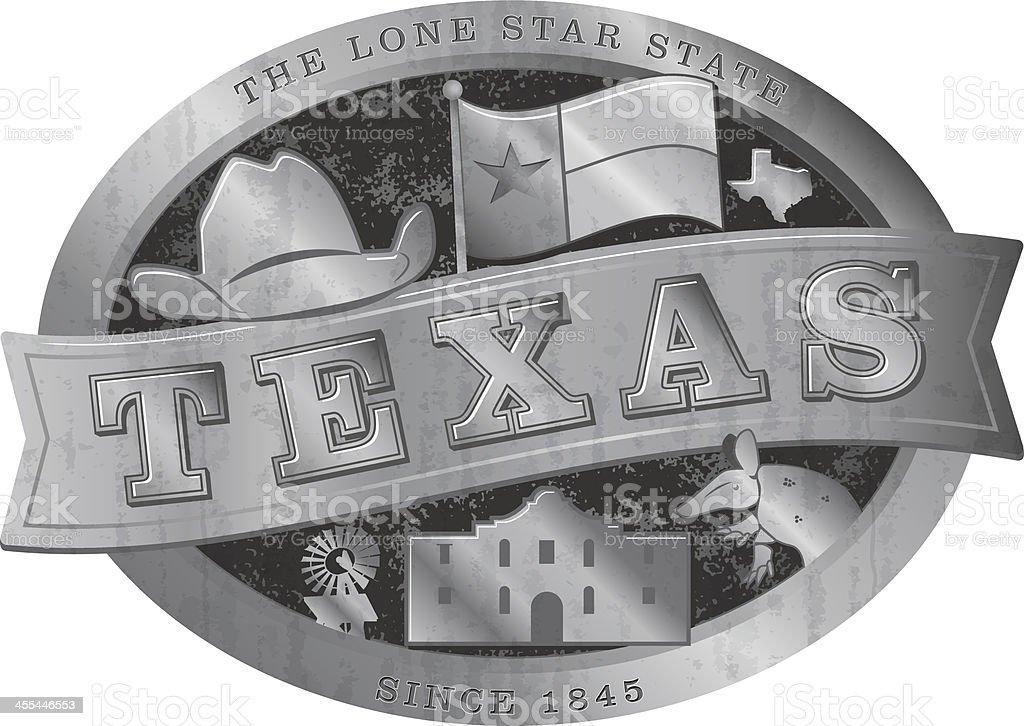 Riteous Texas Belt Buckle vector art illustration