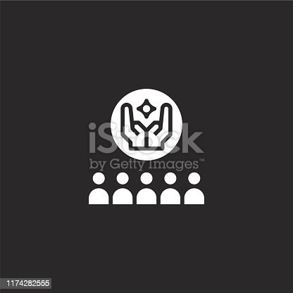 istock ritual icon. Filled ritual icon for website design and mobile, app development. ritual icon from filled funeral collection isolated on black background. 1174282555