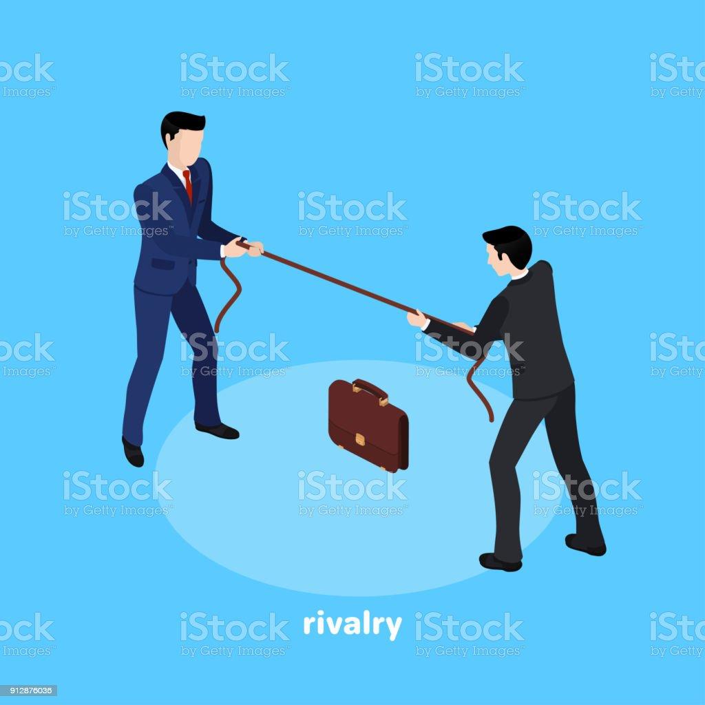 rivalry2 vector art illustration