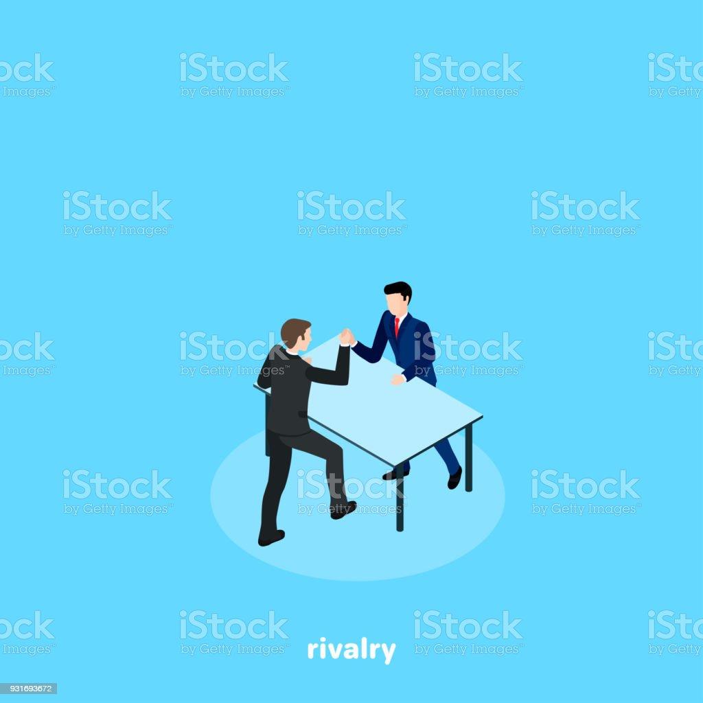 rivalry3 vector art illustration