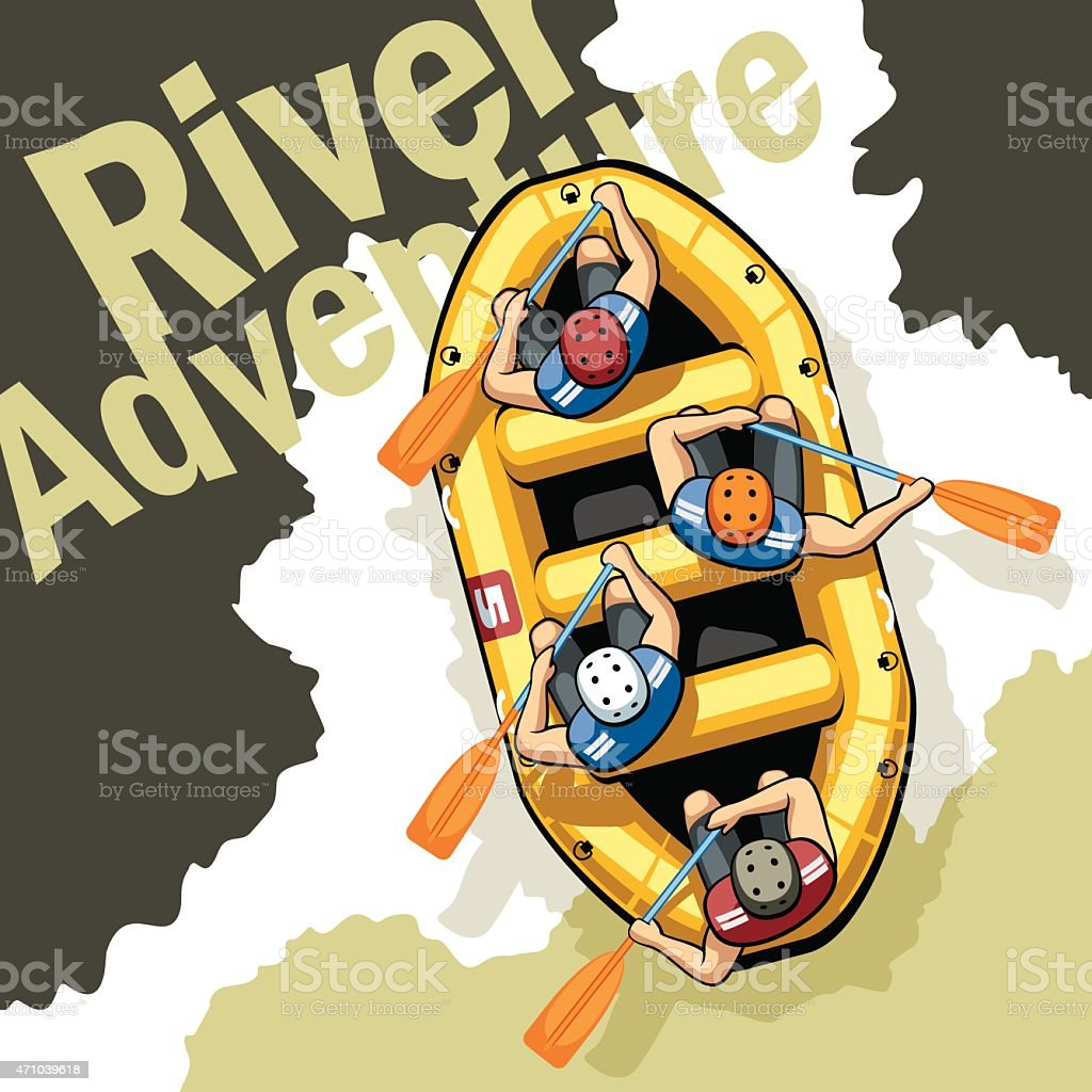 River Adventure vector art illustration