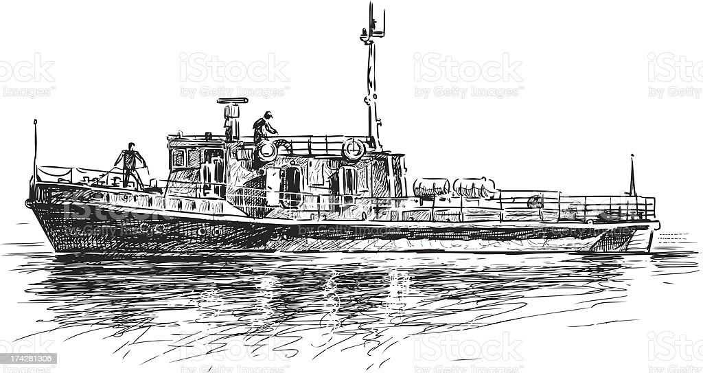 river tug royalty-free river tug stock vector art & more images of cut out