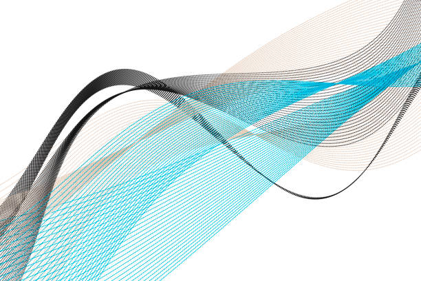 River Vector Data Curve Line Pattern Horizontal vector art illustration