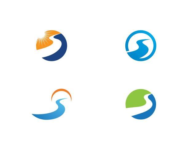 river logo - bach stock-grafiken, -clipart, -cartoons und -symbole