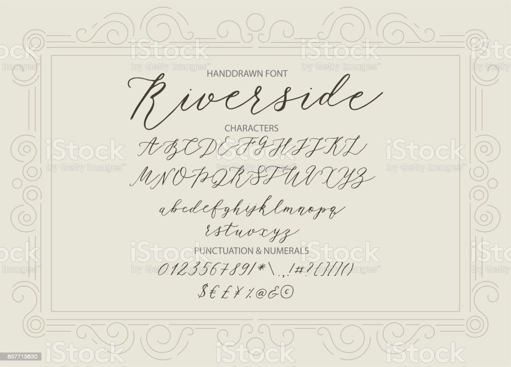 Riverside Handwritten Script Font Stock Illustration - Download