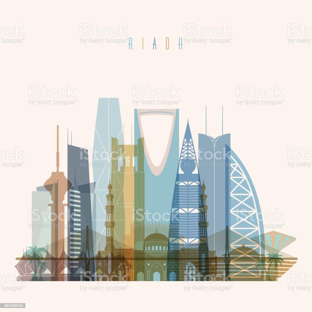 Riyadh skyline silhouette. royalty-free riyadh skyline silhouette stock vector art & more images of arabia