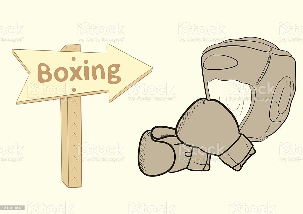 Roaad sign boxing vector art illustration