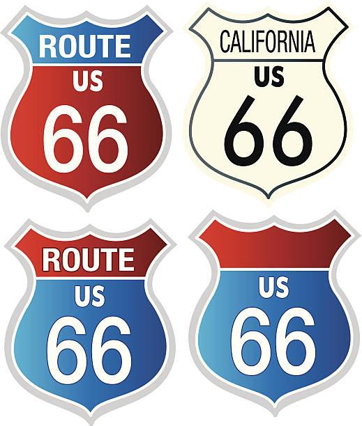 stockillustraties, clipart, cartoons en iconen met road 66 - arizona highway signs