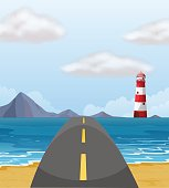 Road across the ocean