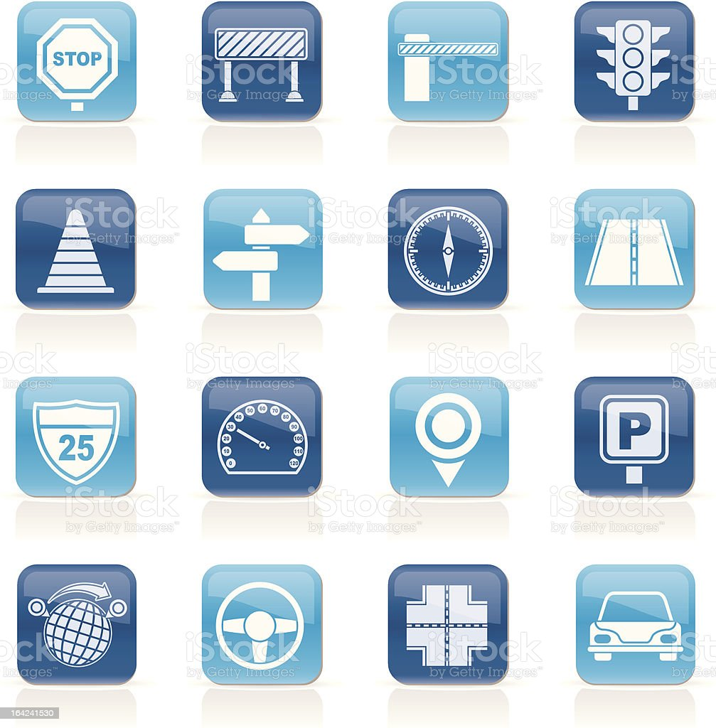 Road and Traffic Icons royalty-free road and traffic icons stock vector art & more images of asphalt