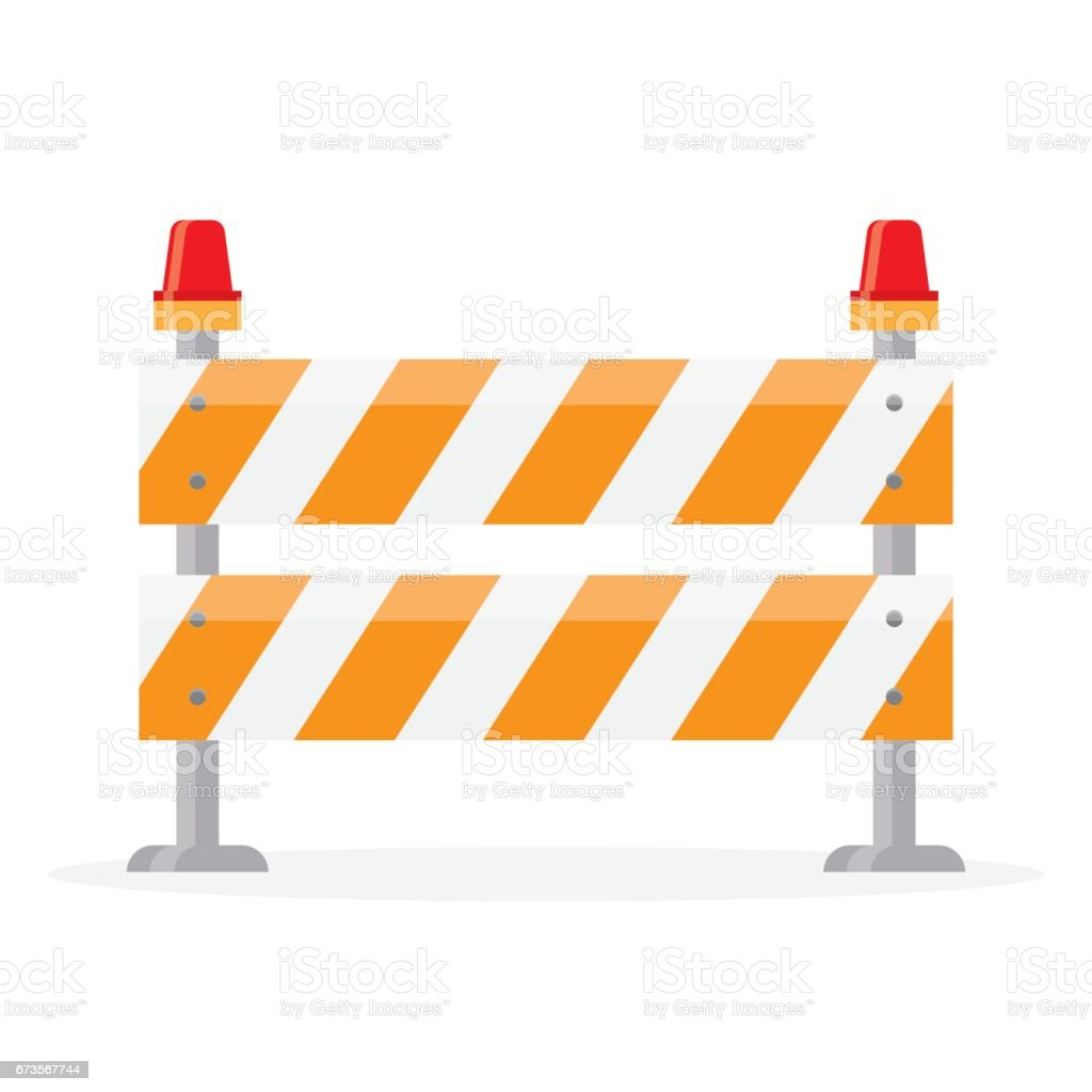 Road barrier barricade stock vector art istock
