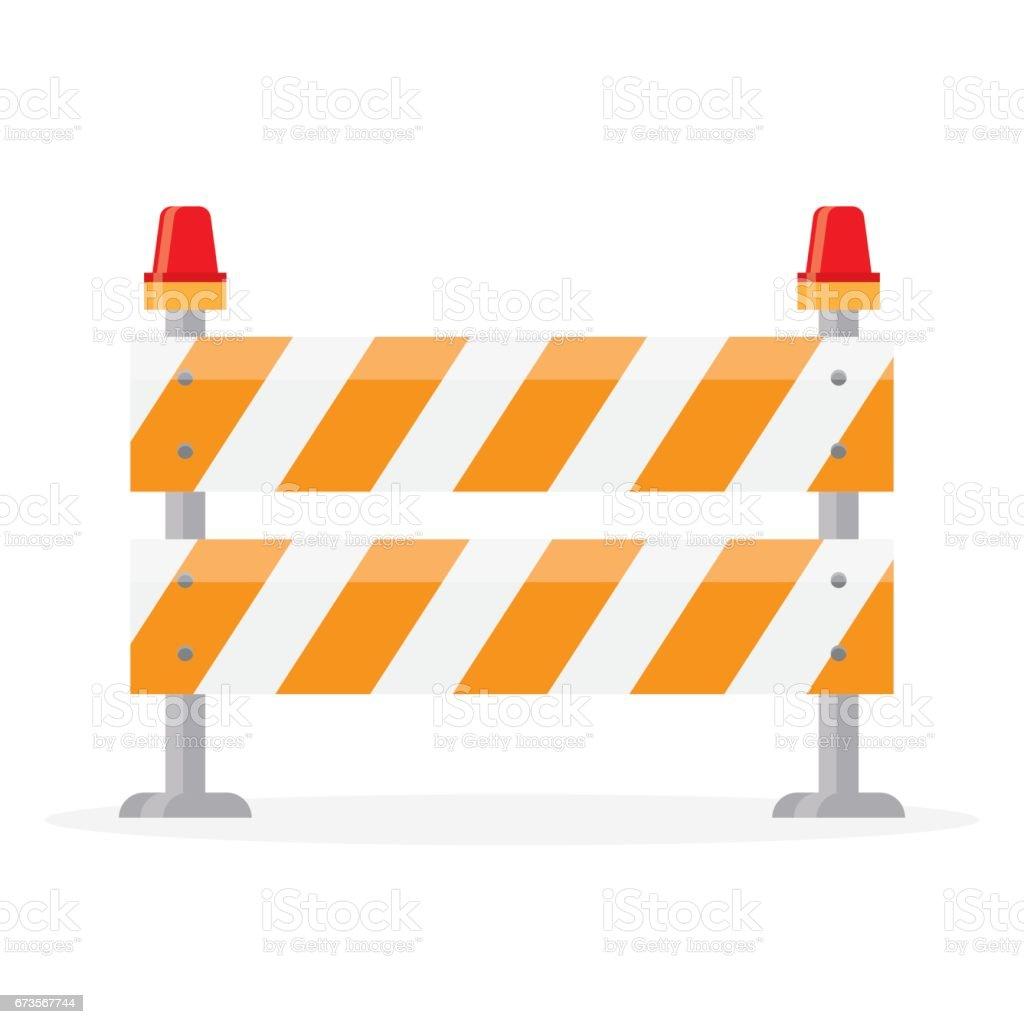 road barrier, barricade vector art illustration