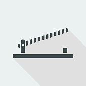 Road barrier icon