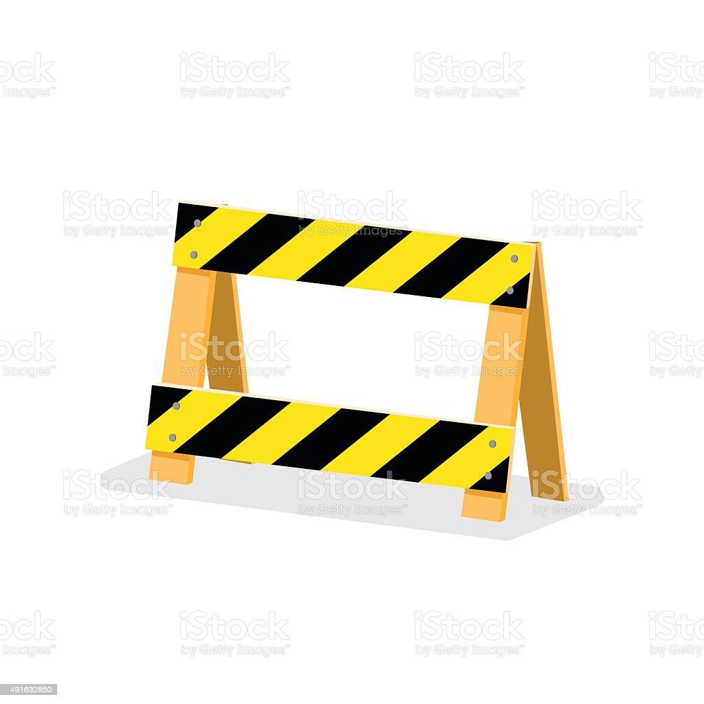 Road Barrier. vector art illustration