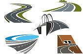 Road bridge, rural highways and road tunnels