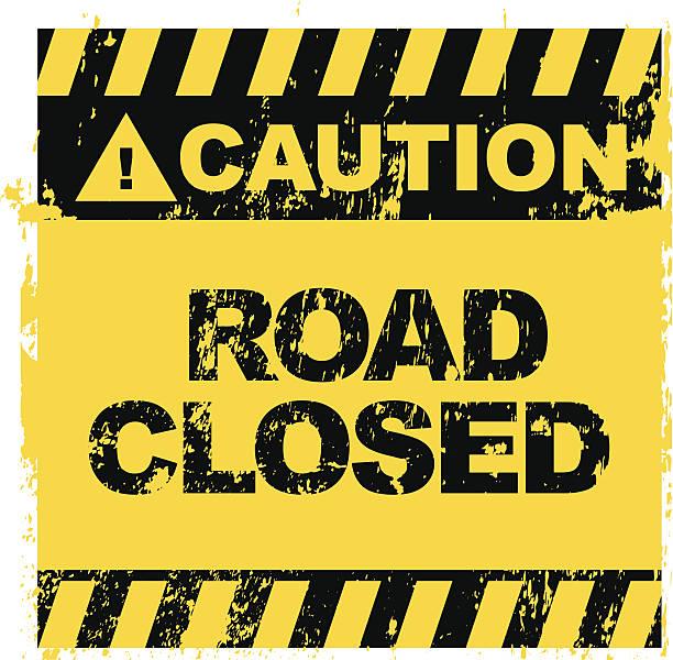 ilustraciones, imágenes clip art, dibujos animados e iconos de stock de señal de carretera cerrada - señalización vial