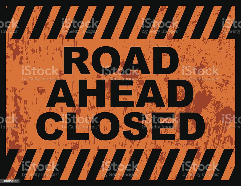 Road Closed Sign royalty-free road closed sign stock vector art & more images of alley