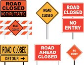 Vector of road closed sign.
