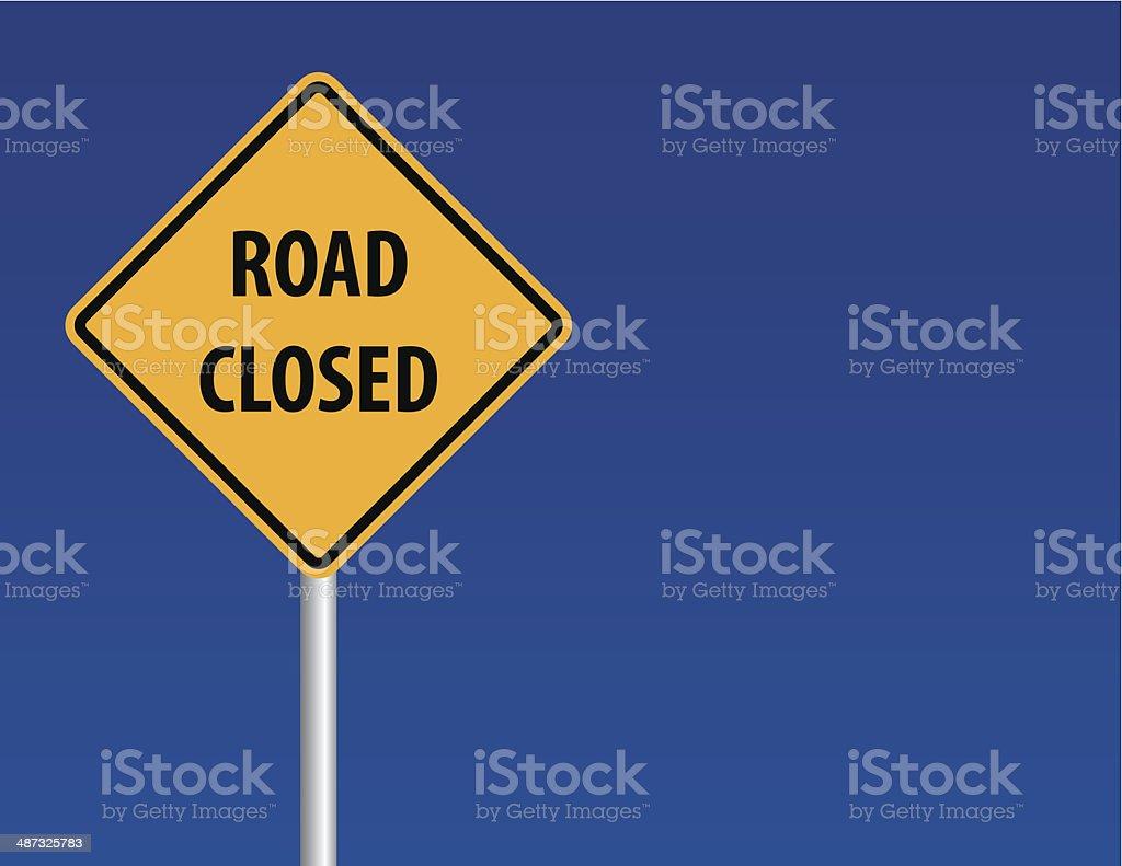 Señal de carretera cerrada - ilustración de arte vectorial