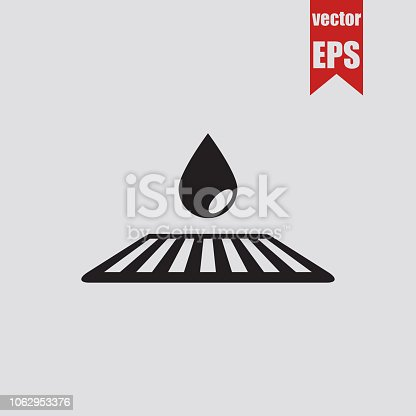 Road drain system icon.Vector illustration.
