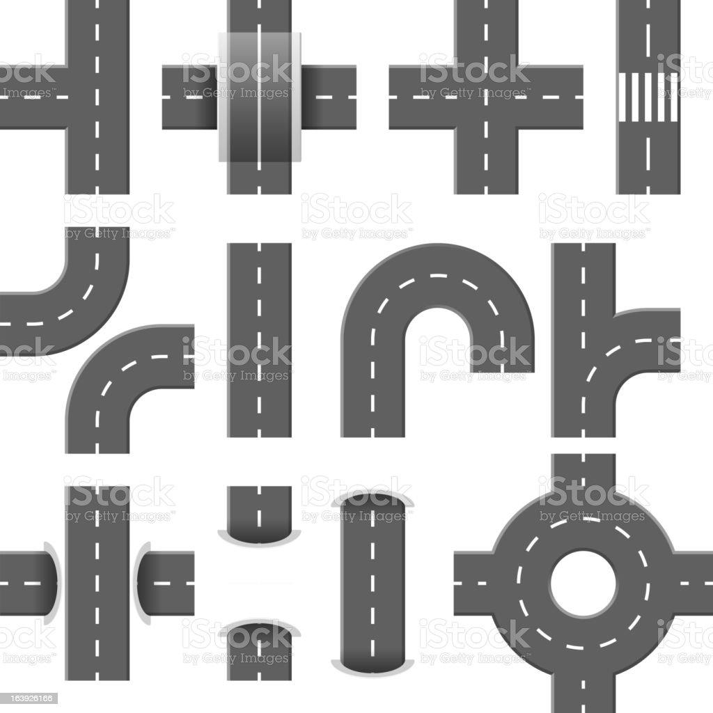 Road elements. Part 1. vector art illustration