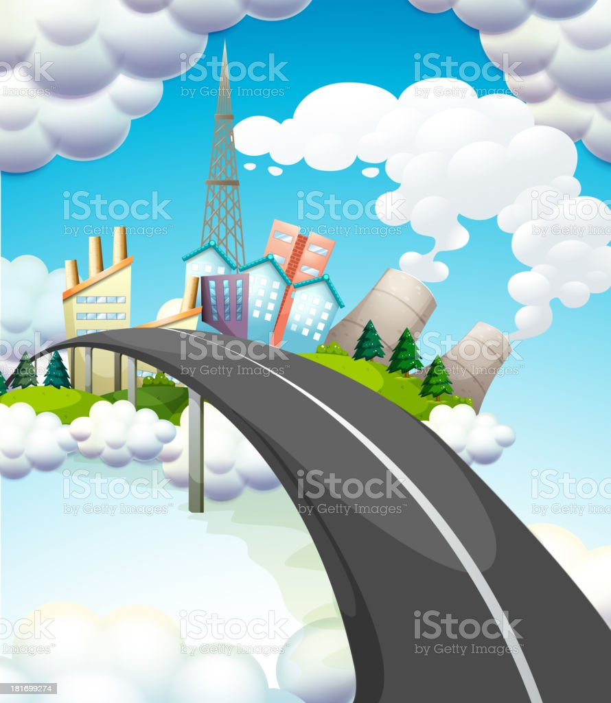 road going to the city royalty-free road going to the city stock vector art & more images of air pollution