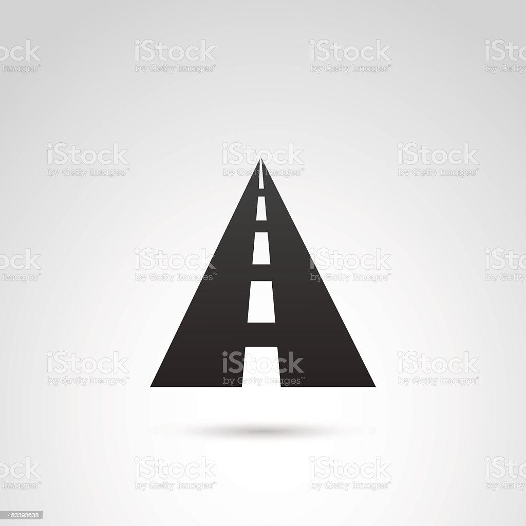 Road icono. - ilustración de arte vectorial