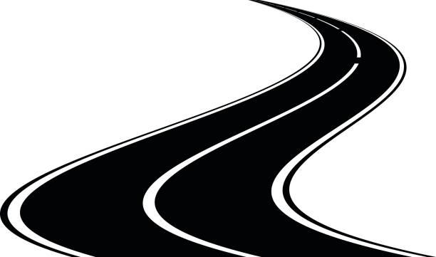 ilustraciones, imágenes clip art, dibujos animados e iconos de stock de icono del camino, vector - señalización vial
