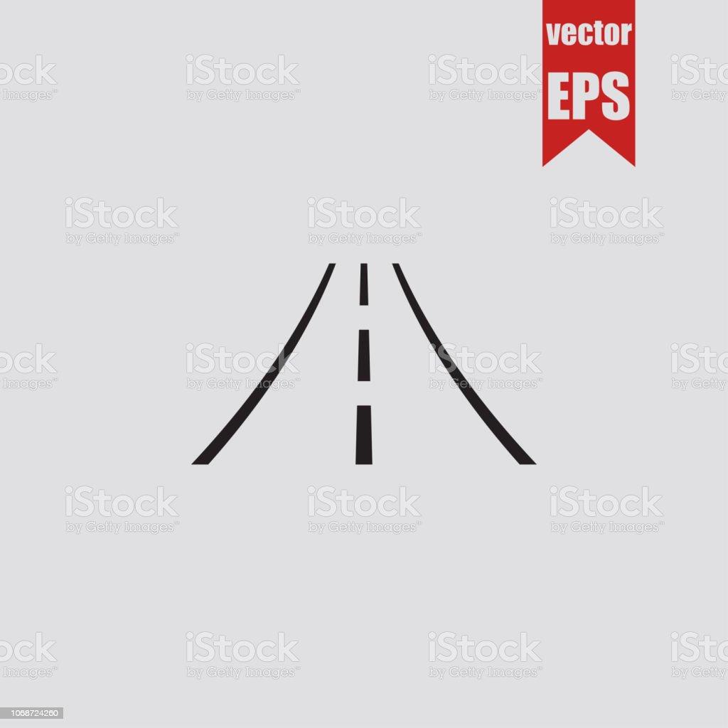 Icono de la carretera. Ilustración de vector. - ilustración de arte vectorial