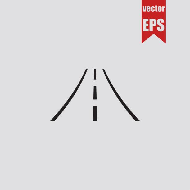 ilustraciones, imágenes clip art, dibujos animados e iconos de stock de icono de la carretera. ilustración de vector. - señalización vial