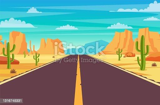 istock Road in desert 1316745331