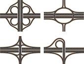 Traffic Interchanges: Cloverleaf, Circular, Diamond and Trumpet.