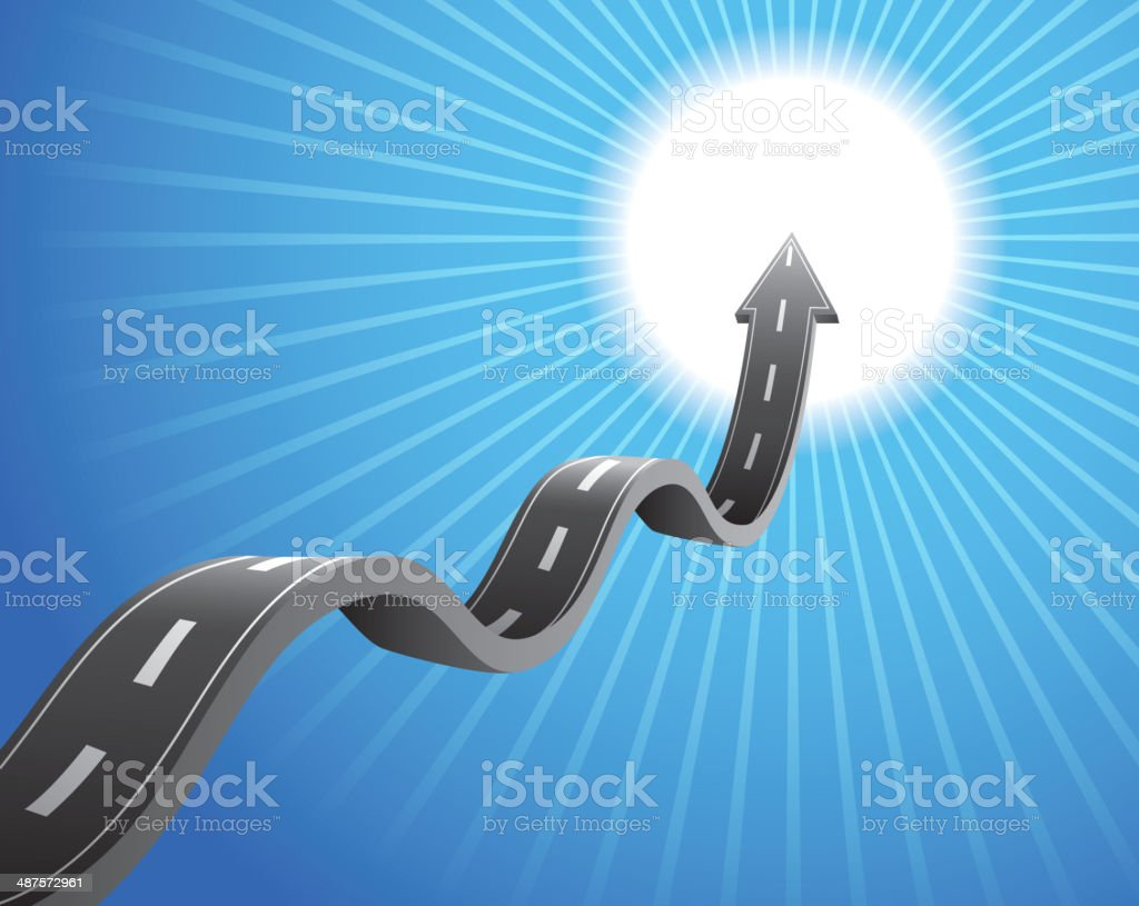 Road lead to futuer royalty-free stock vector art
