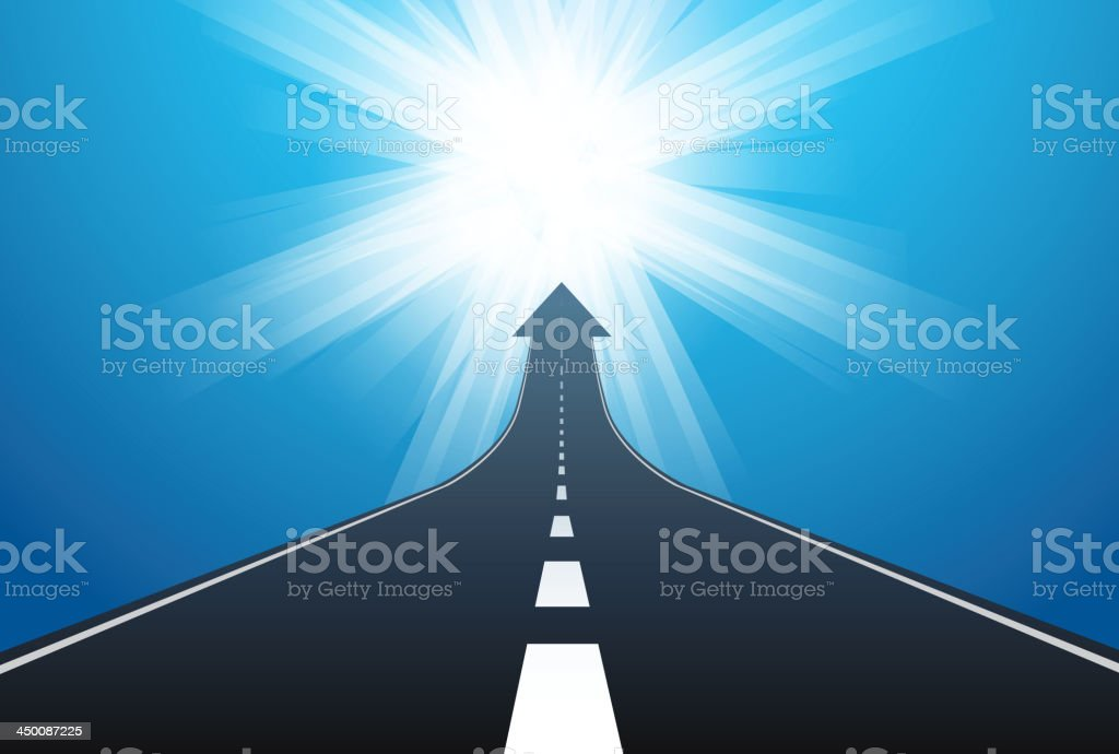 Road lead to success royalty-free stock vector art