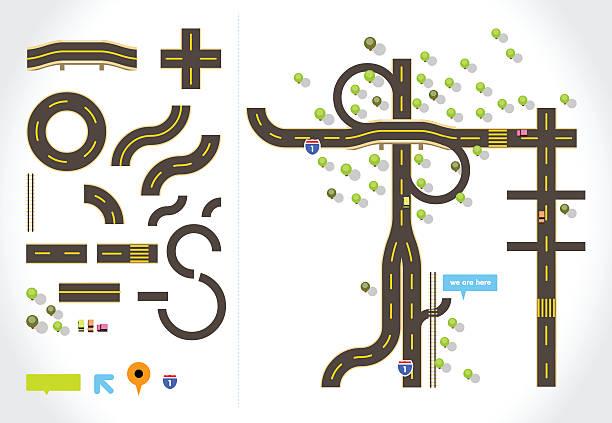 ロードマップキット - 森林 俯瞰点のイラスト素材/クリップアート素材/マンガ素材/アイコン素材