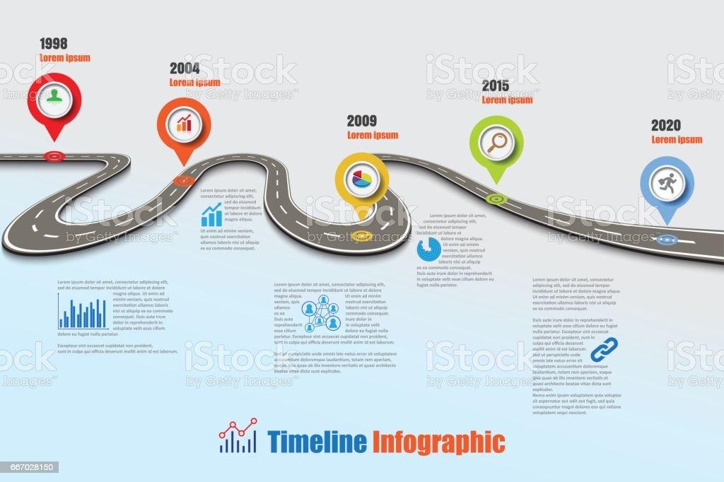 road map timeline infographic vector illustration royalty free road map timeline infographic vector illustration