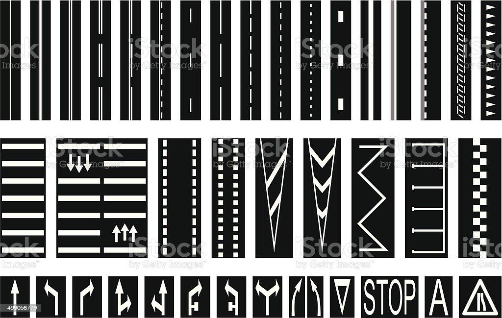 Road Markings royalty-free road markings stock vector art & more images of arrow symbol