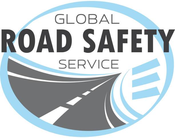 ilustraciones, imágenes clip art, dibujos animados e iconos de stock de icono de vector de servicio de tecnología de carretera o autopista - señalización vial