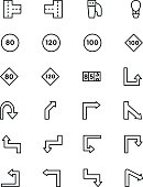 Road Outline Vector Icons 4