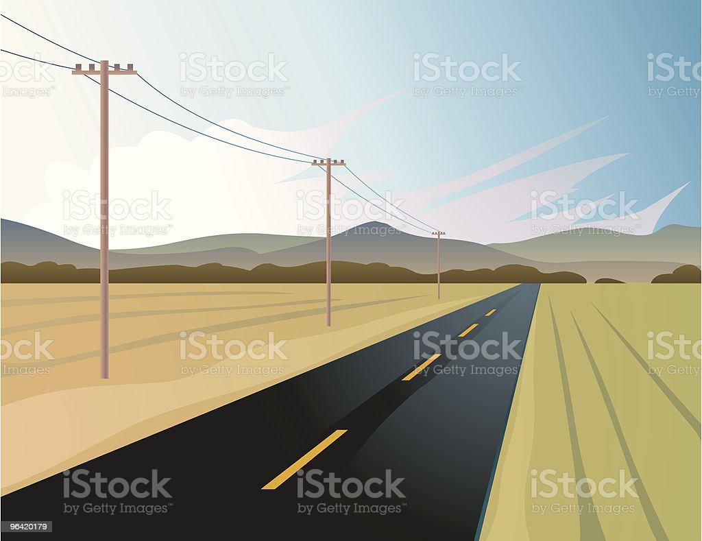 Road & Pylons royalty-free stock vector art