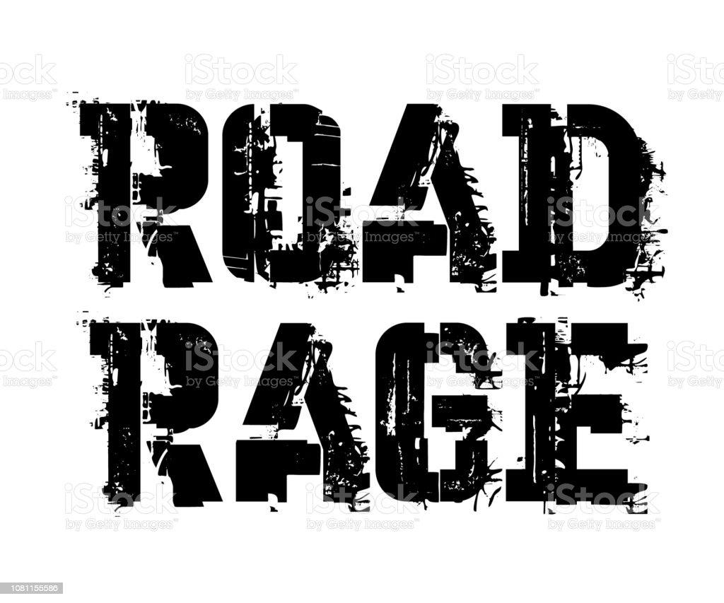 Road Rage Typographic Stamp Stock Illustration Download Image Now Istock