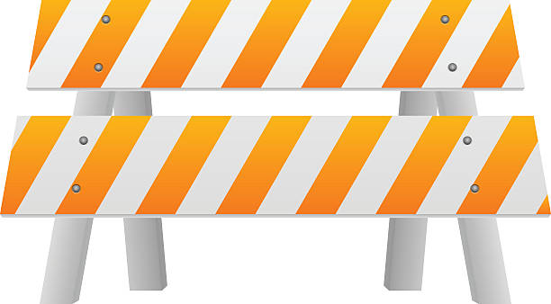 Royalty free road barrier clip art vector images