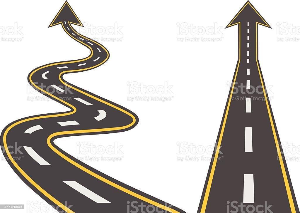 Road set. Vector flat illustration vector art illustration